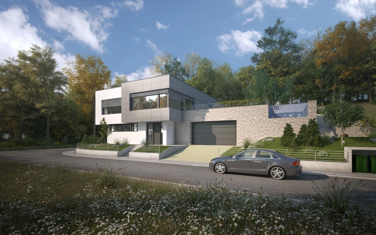 Projekt individuálního domu 1