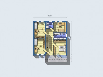 Vi1754_plan2_n_blueprint